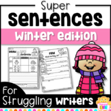 Sentence Writing for Winter and Sentence Building Structure