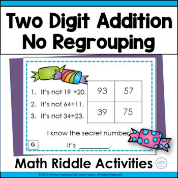 Two Digit Addition with No Regrouping ~ Sweet Sums