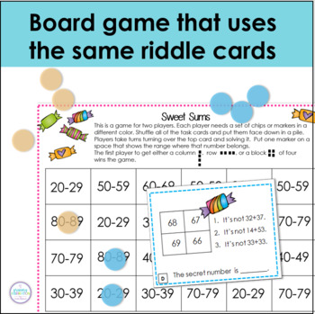 Two Digit Addition with No Regrouping Math Logic Task Cards