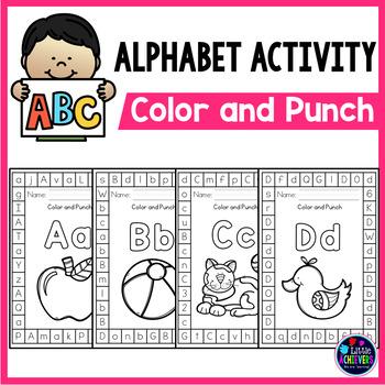 Alphabet Letters Punch Cards - Beginning Sound Literacy Center
