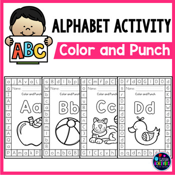 Alphabet Punch Cards for Letter Identification