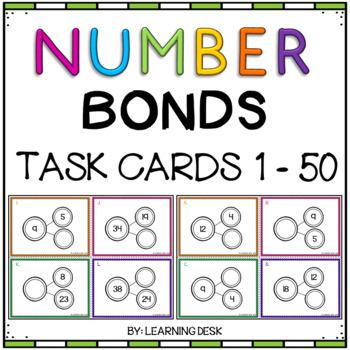 Number Bond Task Cards 1 to 50