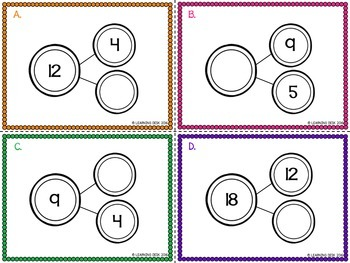 Number Bond Activities (Task Cards) 1 To 50