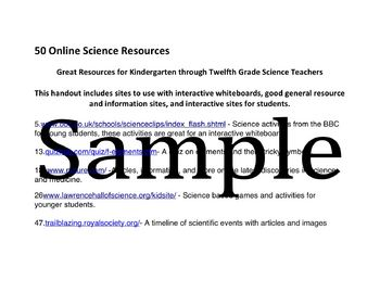 50 Online Science Resources