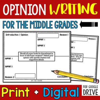 Opinion / Argument Writing Prompts