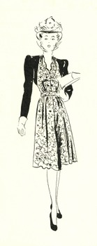 50 Out-of-Copyright Retro Woman Outline Drawings to use for anything you like!