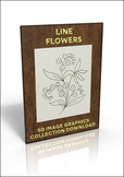 50 Out of copyright outline flowers to use for anything you like!