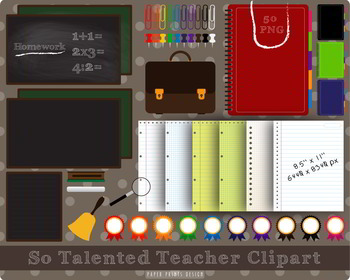 50 PNG So Talented Teacher Clipart
