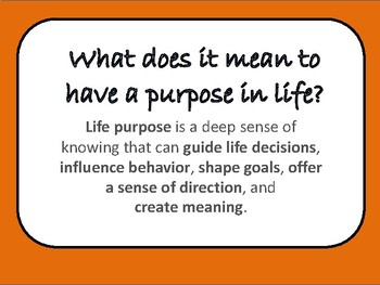 """50 Page """"What's My Purpose?"""" PowerPoint for Classroom Workshops"""
