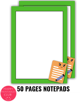 50 Pages Notepads- Notes Paper Sheets-Printable Notepad