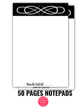 picture about Printable Notepad referred to as 50 Web pages Notepads-Notepad Sheets- Printable Notepad