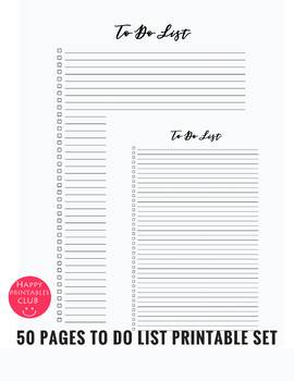 50 Pages To Do List Printable for Teachers