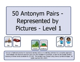 50 Pairs of Antonyms Represented by Pictures - Level 1 (PK