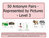 50 Pairs of Antonyms Represented by Pictures - Level 3 (2n