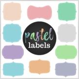 50 Pastel Digital Labels / Frames. HIgh resolution (300 dp