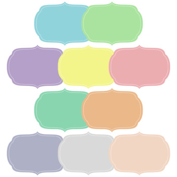 50 Pastel Digital Labels / Frames. HIgh resolution (300 dpi) PNG images.