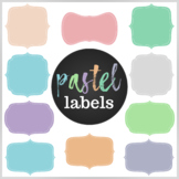 50 Pastel Digital Labels / Frames. HIgh resolution (300 dp