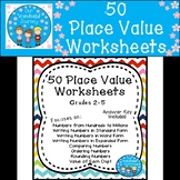 50 Place Value Worksheets for Grades 2-5