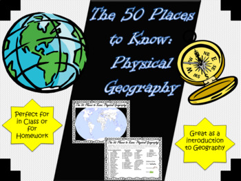 50 Places to Know in Geography (Mapping Practice)