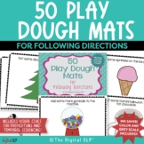 50 Play Dough Mats for Following Directions - Color & Gray Scale