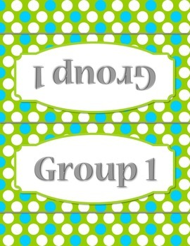 50 Polka Dot Group Station Table Topper and Labels