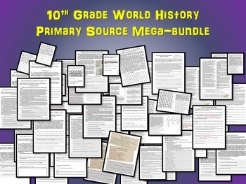 50 Primary Source Texts & other resources for High School