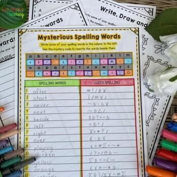 1st Grade Spelling & 2nd Grade Spelling Activities for Spelling Practice