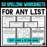 50 Spelling Worksheets for Any List (Spelling Practice for