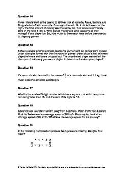 50 Problem Solving Tasks
