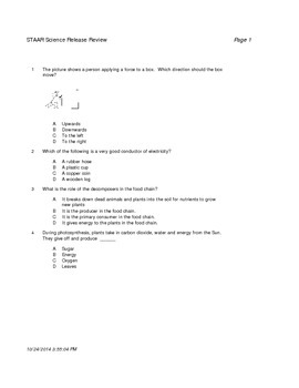 50-Question Science Review