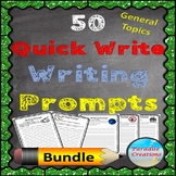 50 Quick Write Writing Prompts