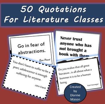 50 Quotations for Literature Classes