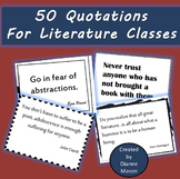 50 Quotations for Literature Classes