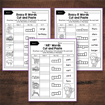 R Controlled Vowels Activities, R Controlled Vowels Worksheets