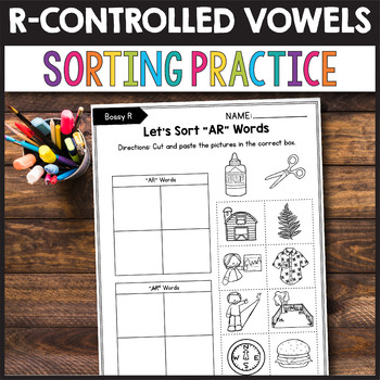 R Controlled Worksheets, R Controlled Vowels Games - Sorting Practice
