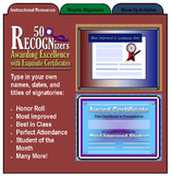 50 RECOGNizers (Award Certificates Recognizing Student Ach