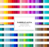 50 Rainbow Horizontal Stripes Digital Papers