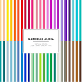50 Rainbow Vertical Stripes Digital Papers