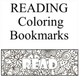 50 Reading Coloring Bookmarks -Color your Own Bookmarks