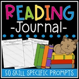 Skill Specific Reading Response Prompt Journal - Works with Any Fictional Book!