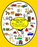 50 Rhyming Words Clip Art in png format with transparent b