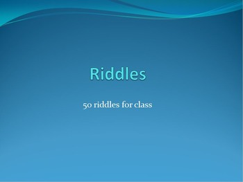 50 Riddles for any class
