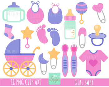 50% SALE BABY GIRL clipart,  baby girl graphics, baby clip art