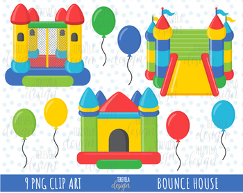 50 sale bounce house clipart bounce castle ballons by terevela design rh teacherspayteachers com Bounce House Outline bounce house clipart images