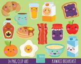 50% SALE Breakfast clipart, food clipart, breakfast graphi