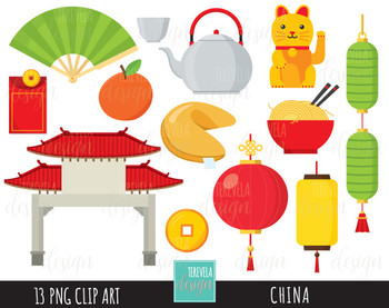 50% SALE CHINA clipart, digital clipart, commercial use