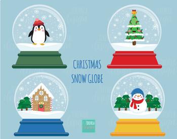 50% SALE CHRISTMAS Clipart, christmas snow globe clipart, christmas graphics
