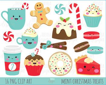 50% SALE CHRISTMAS clipart, christmas treats, christmas graphics, MINT