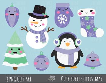 50% SALE CHRISTMAS clipart, purple christmas, cute christmas