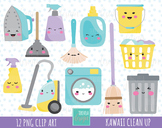 50% SALE CLEANING clipart,  kawaii cleaning clipart, cute images